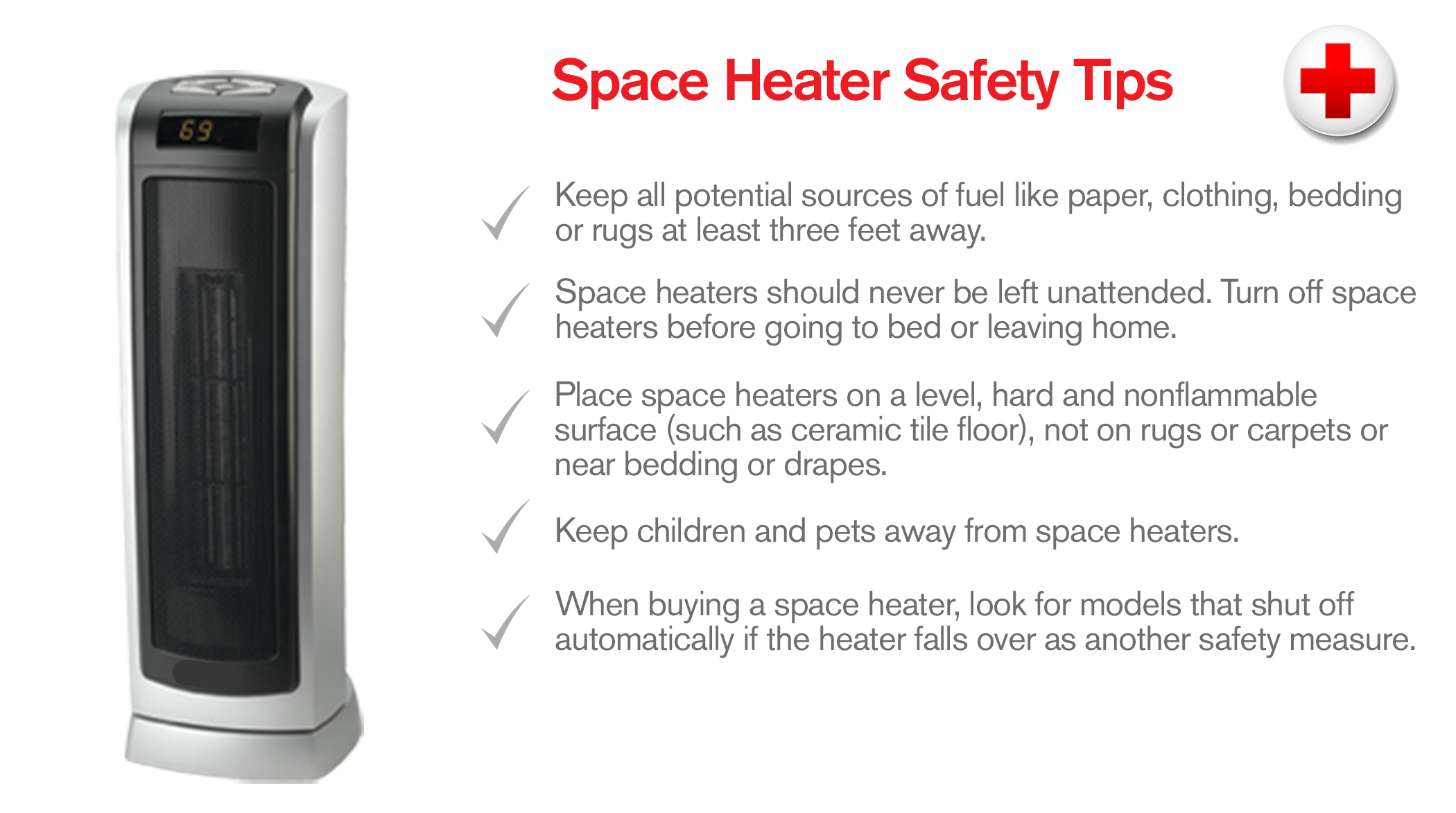 electric space heater tips